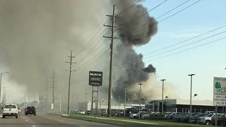 Viewer video of fire at Buff Whelan Chevrolet - Video