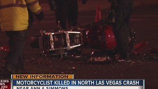 Motorcyclist killed in North Las Vegas crash identified