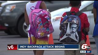 Indy backpack attack begins - Video