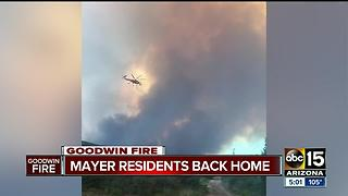 Mayer residents let back into homes after Goodwin Fire - Video