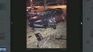 Single car crash in Lakewood - Video