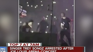Singer Trey Songz arrested after Joe Louis Arena concert - Video