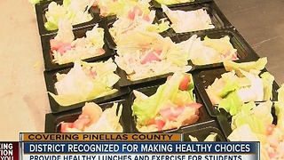 Pinellas Schools recognized for healthy choices - Video