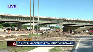 Gandy Blvd overpass construction delayed - Video