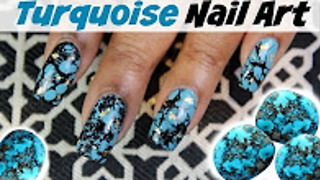 How to create turquoise nail art | Dearnatural62 - Video