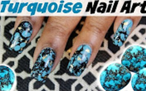 How to create turquoise nail art | Dearnatural62