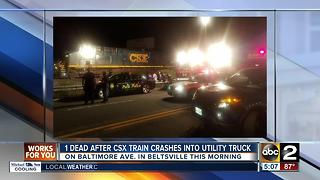 1 dead after CSX train crashes into utility truck - Video
