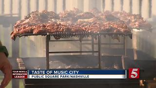 Taste Of Music City Held At Public Square Park - Video