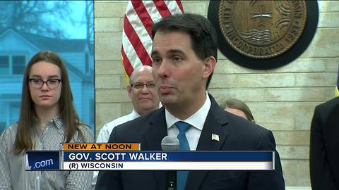 Walker stops in St. Francis to tout elimination of state property tax