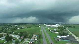 Drone Footage Shows Tornado Form Over Kokomo, Indiana - Video
