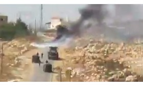 Smoke Rises as Bulldozer Moves Into Village of Halamish Attacker - Video