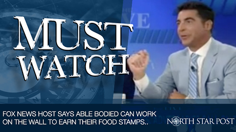 Fox News Host Says The Able-Bodied Can Work On The Border Wall To Earn Their Food Stamps