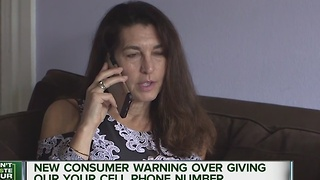New consumer warning over giving out your cell phone number - Video