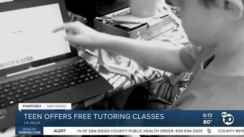 La Jolla teen offers free tutoring classes