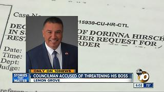 Lemon Grove Councilman accused of threatening his boss - Video
