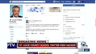 St. Lucie County Schools Twitter feed hacked - Video