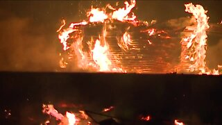 Rocky River Fire Department responds to massive fire at condo under construction