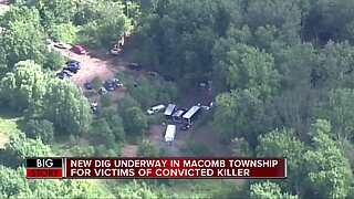 Police begin second search in Macomb Township for bodies in decades-long cold case