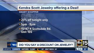 Kendra Scott offering 20 percent off on Thursday - Video