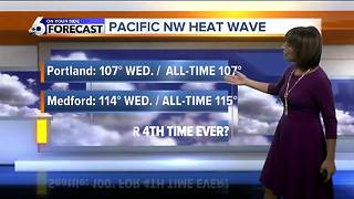 Scorching in SW Idaho this week, record heat to the west - Video