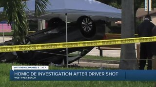Shooting victim crashes car in West Palm Beach, dies at hospital