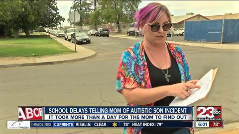 School delays telling mom of autistic son incident