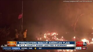 Check This Out: Firefighters rescue American flag