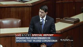 Speaker Paul Ryan remarks on Virginia Shooting - Video