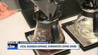 Overwinter Coffee offering new options for coffee drinkers downtown - Video