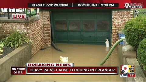 Heavy rains cause flooding in Erlanger
