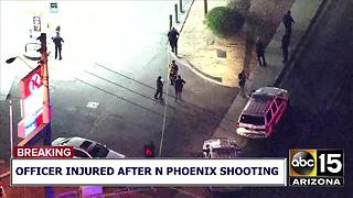 Officer injured after north Phoenix shooting