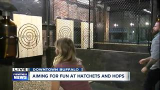 Hatchets and Hops finally offers the full axe-throwing experience - Video