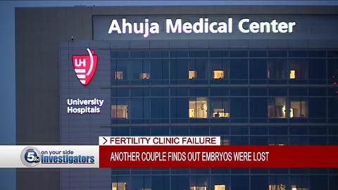 UH Fertility Clinic: Devastating news for a family who thought their embryos were safe