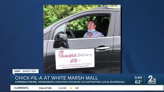 "Chick-fil-A White Marsh Mall says ""We're Open Baltimore!"""