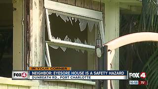 Neighbor: Eyesore house is safety hazard - Video