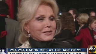 Zsa Zsa Gabor passes away at age 99 - Video