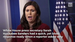 Reporter Asks Why Blacks Don't Like Trump... Sarah Sanders Eats Him Alive - Video