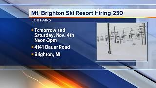 Workers Wanted: Mt. Brighton Ski Resort hiring 250 - Video