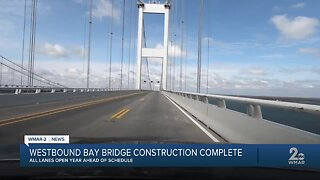 Bay bridge construction complete, all lanes open year ahead of schedule