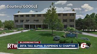 IU chapter of Zeta Tau Alpha suspended from social activities - Video