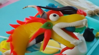 Make a Dragon with Play doh