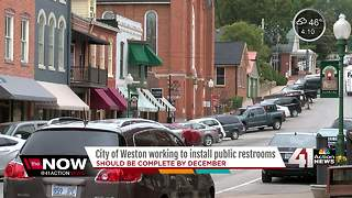 City of Weston workigng to install public restrooms - Video