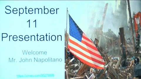Retired officer talks to students about 9/11