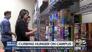 Food pantries help fight hunger on college campuses - Video