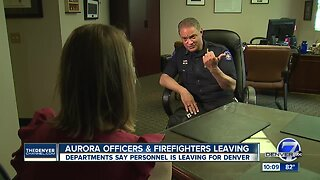 Police officers and firefighters leaving Aurora for Denver