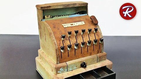DIY vintage toy cash register restoration