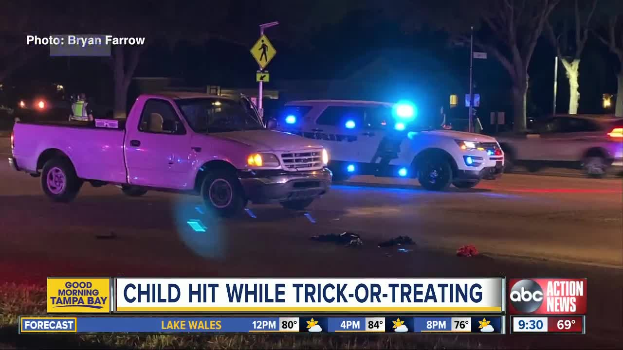 6-year-old boy flown to hospital after being hit by truck while trick-or-treating in Trinity