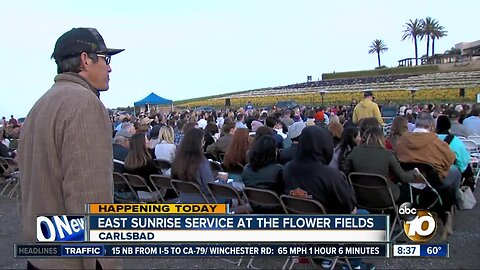 East sunrise service at the flower fields