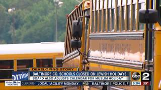 Baltimore County schools to stay closed on Jewish holidays