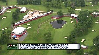 Rocket Mortgage Classic 5K race in downtown on Sunday